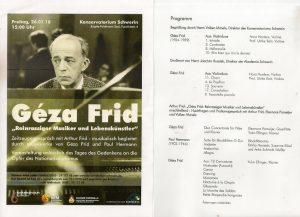Concertprogramma Schwerin 26-1-2018